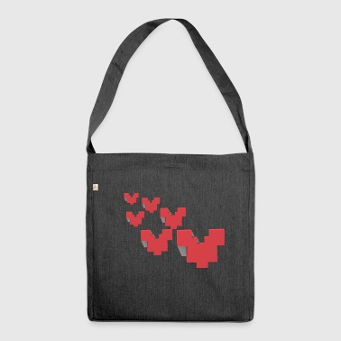 Strange hearts - Shoulder Bag made from recycled material