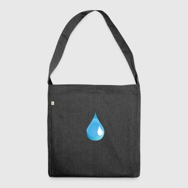 Tear drop - Shoulder Bag made from recycled material