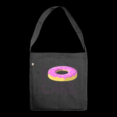 Donut Care - I do not care - Shoulder Bag made from recycled material