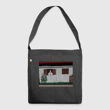 Woman at the window - Shoulder Bag made from recycled material