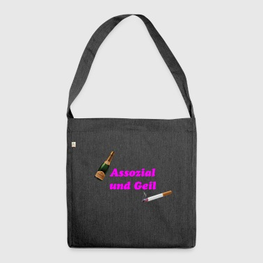 Associal and horny - Shoulder Bag made from recycled material