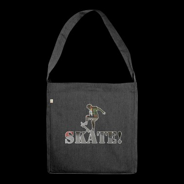 Skate! - Shoulder Bag made from recycled material