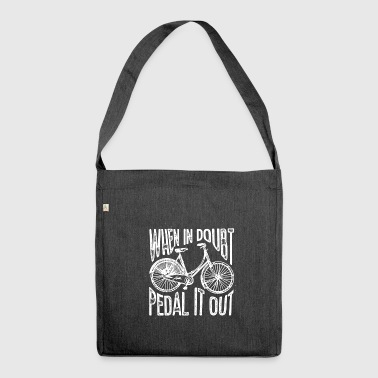 Pedal it out - Schultertasche aus Recycling-Material