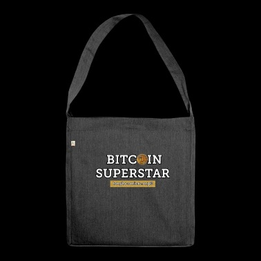 bitcoin superstar - Shoulder Bag made from recycled material
