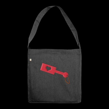 Heart BDSM Paddle - Shoulder Bag made from recycled material