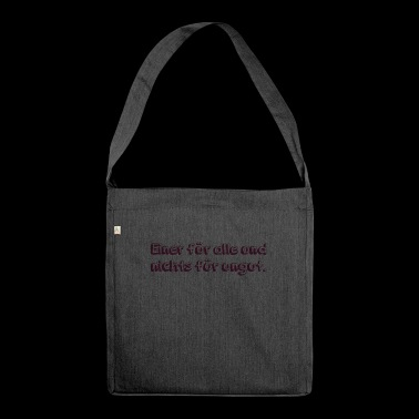 one for all and no offense - Shoulder Bag made from recycled material