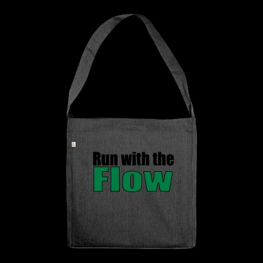 Run with the Flow Running Marathon Gift - Shoulder Bag made from recycled material