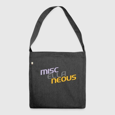 miscellaneous english gift slogan colored motive - Shoulder Bag made from recycled material