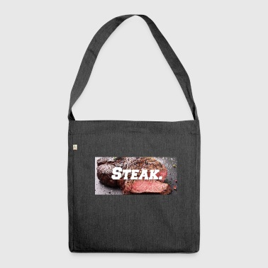 Steak (funny print) (joke) (gag) Gift - Shoulder Bag made from recycled material