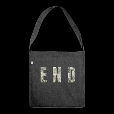 END - The End - Schultertasche aus Recycling-Material