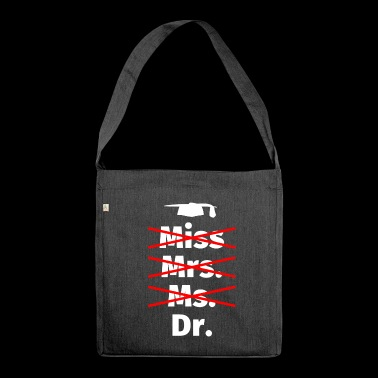 PhD thesis doctoral student graduation gift - Shoulder Bag made from recycled material