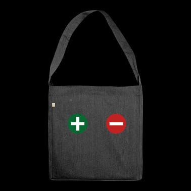 plus minus - Shoulder Bag made from recycled material