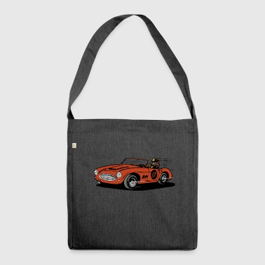 car racing - Schultertasche aus Recycling-Material