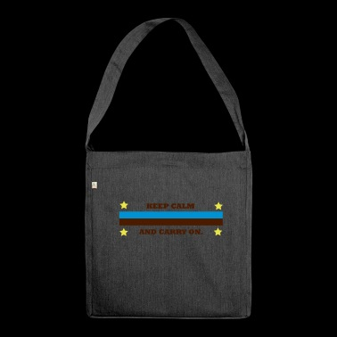 saying - Shoulder Bag made from recycled material