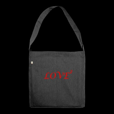 LOVE love Loved love romantic i love - Shoulder Bag made from recycled material