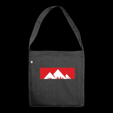 The mountain is calling - mountain, mountains - Shoulder Bag made from recycled material