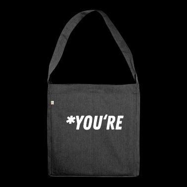 Grammar Grammar Gift Gift Idea - Shoulder Bag made from recycled material