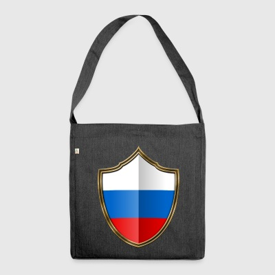 Russia Flag Coat of Arms Gold 016 - Shoulder Bag made from recycled material