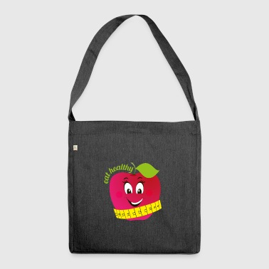 eat healthy - Shoulder Bag made from recycled material