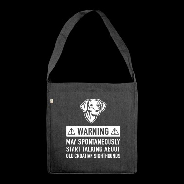 Funny Old Croatian Sighthound Gift Idea - Shoulder Bag made from recycled material