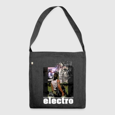 Electro Traumfänger1 Turntable Save the Vinyl - Schultertasche aus Recycling-Material