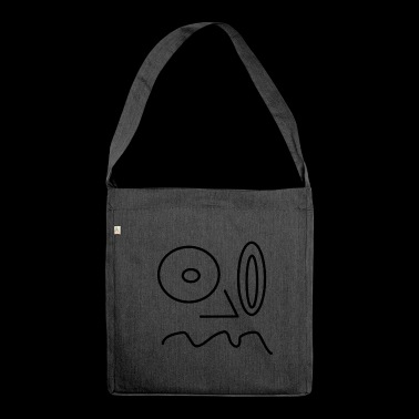 smiley retarded - Shoulder Bag made from recycled material