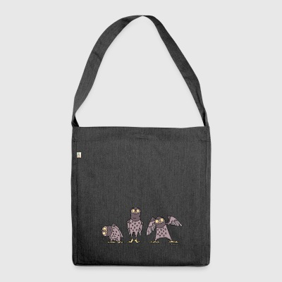 Owls - purple - Shoulder Bag made from recycled material