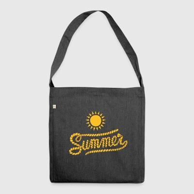 Sommer - Schultertasche aus Recycling-Material