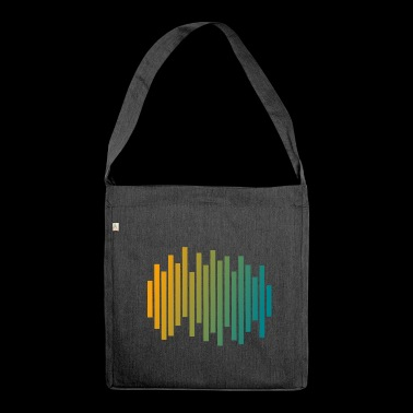 Audio Waveform - Shoulder Bag made from recycled material