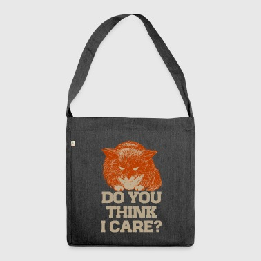 Ginger the cynic cat, do you think I care? t-shirt - Shoulder Bag made from recycled material