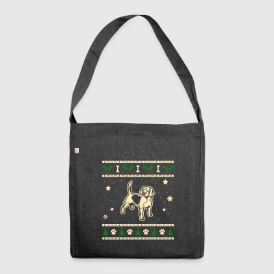 Beagle Christmas Gift - Shoulder Bag made from recycled material