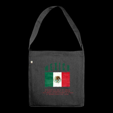 Mexican Flag Bandera Mexico - Shoulder Bag made from recycled material