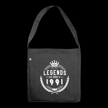 Legends Shirt - Legends are born in 1991 - Shoulder Bag made from recycled material