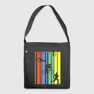 TRIATHLON - Stripes - Schultertasche aus Recycling-Material