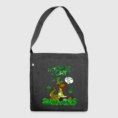 St Patricks Day Funny Dino Shirt Gift - Shoulder Bag made from recycled material