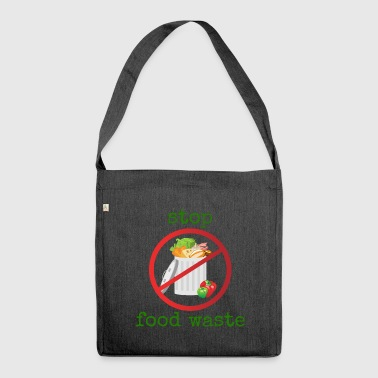 Stop food waste - Shoulder Bag made from recycled material