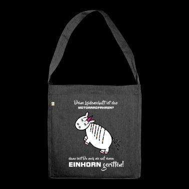 in sella a moto passione Unicorn - Borsa in materiale riciclato