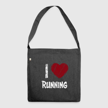 I Love Running used Look - Shoulder Bag made from recycled material