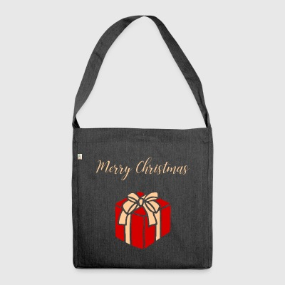 Christmas Merry Christmas Gift - Shoulder Bag made from recycled material