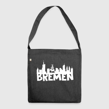 Bremen skyline - Shoulder Bag made from recycled material
