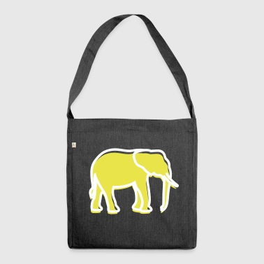 A Big Elephant With Trunk - Shoulder Bag made from recycled material