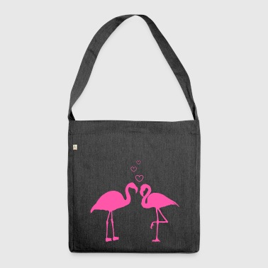 Flamingo love - Shoulder Bag made from recycled material