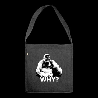 Gorilla in the sense of animal welfare - Shoulder Bag made from recycled material