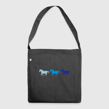 Three horses at gallop - Shoulder Bag made from recycled material