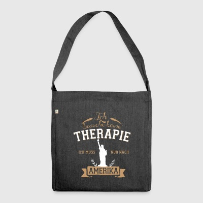 Amerika Tshirt-Therapie - Schultertasche aus Recycling-Material