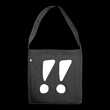 Two exclamation marks - Shoulder Bag made from recycled material