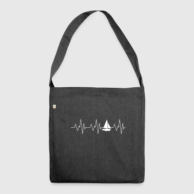 Heartbeat sailing - Shoulder Bag made from recycled material