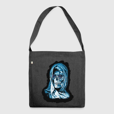 Grim Reaper Head - Shoulder Bag made from recycled material