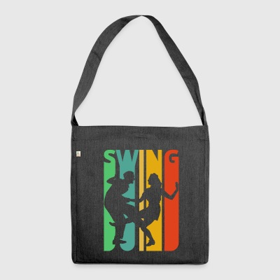 Vintage Retro Swing Dancing. Dance. SALE - Shoulder Bag made from recycled material
