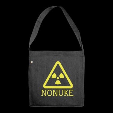 No nuclear weapons - Shoulder Bag made from recycled material